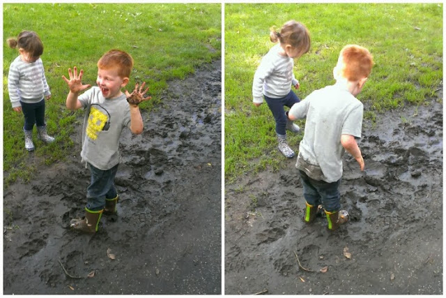kids in the mud at Heaton Park