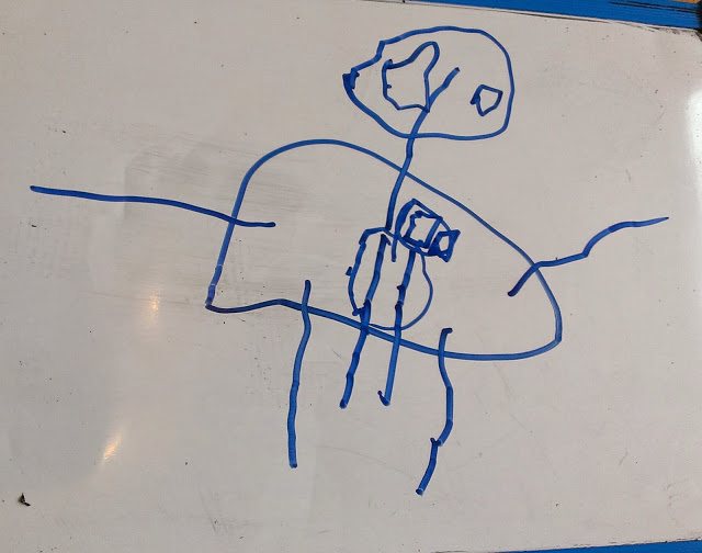 Ben has been drawing again this morning!