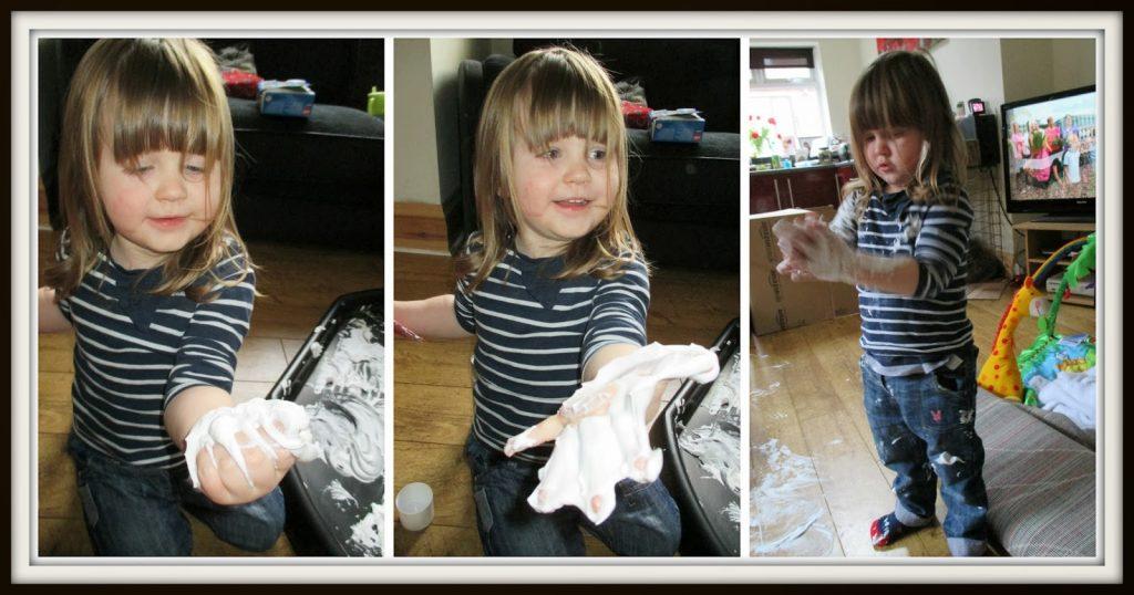 Exploring shaving foam