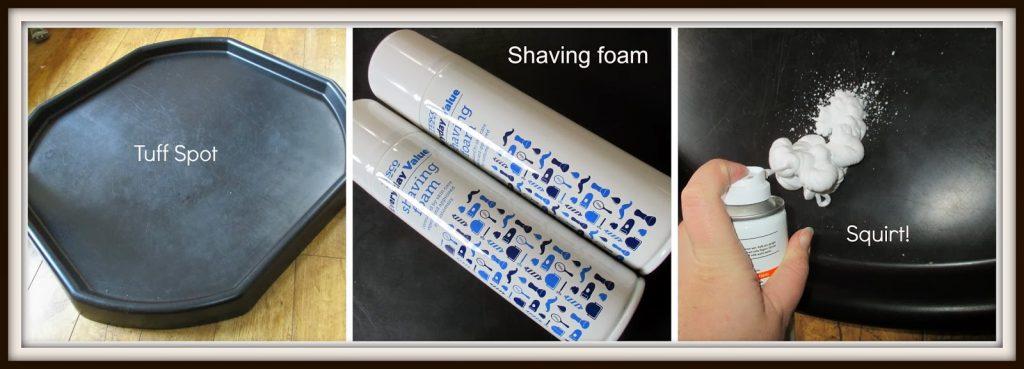 Tuff Spot and shaving foam