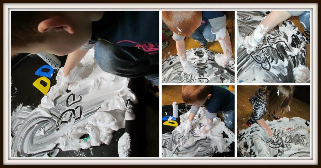 Mark Making - Shaving Foam
