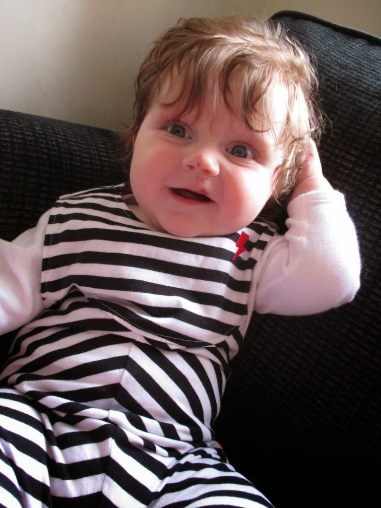 Little Gems Clothing Boutique - monochrome dungarees for baby
