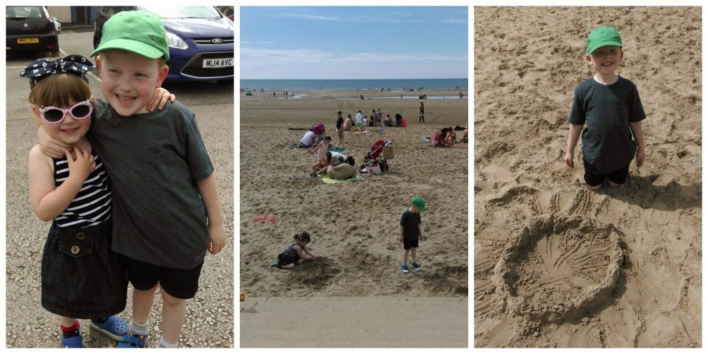 A sunny afternoon on the beach in Blackpool before Cirque du Hilarious