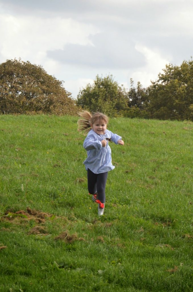 running down hills