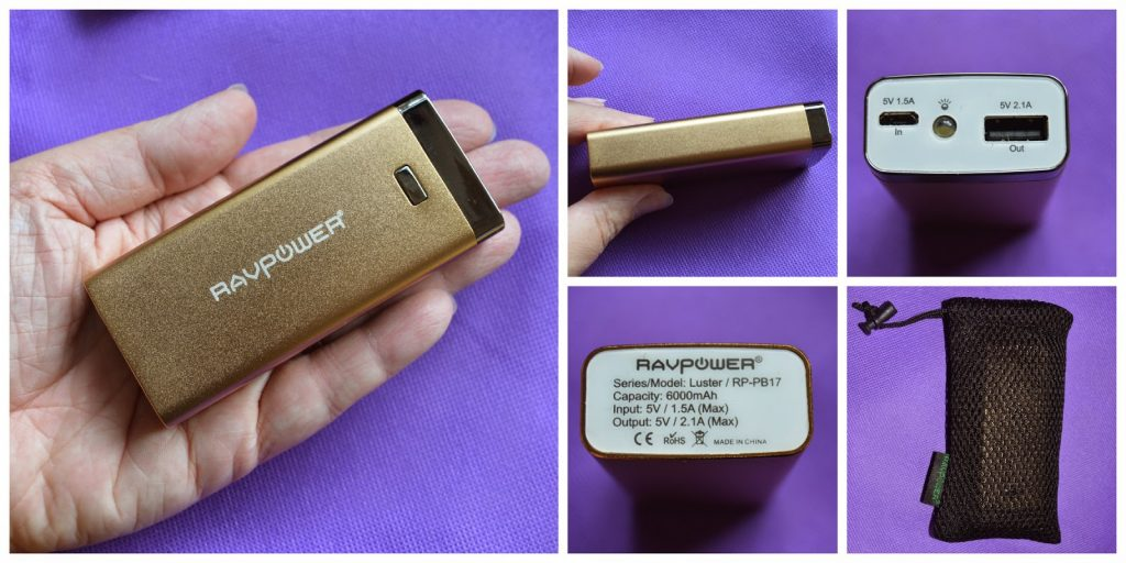 battery charger from RAVpower (power bank)