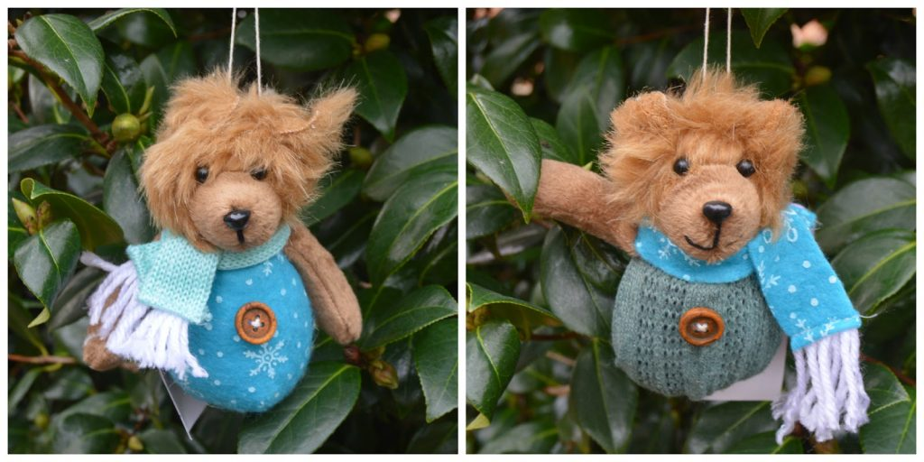 The Christmas Boutique - wintery hanging bear decorations