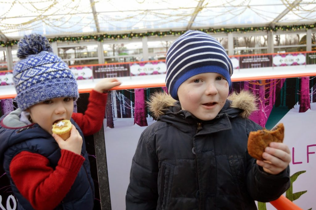 Snacks at the Selfridges Ice Rink