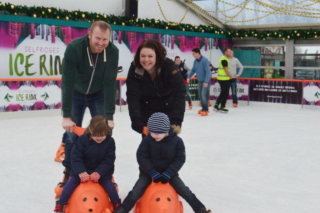 Ice Skating at Selfridges