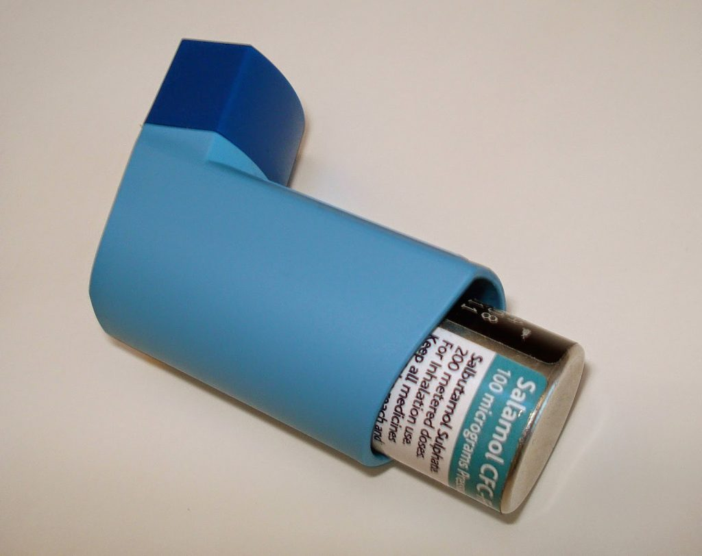 blue inhaler