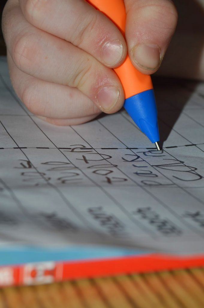 correct grip for handwriting - stabilo