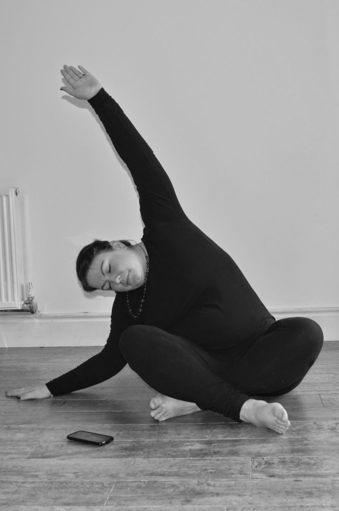 Yoga - Stretching up and over