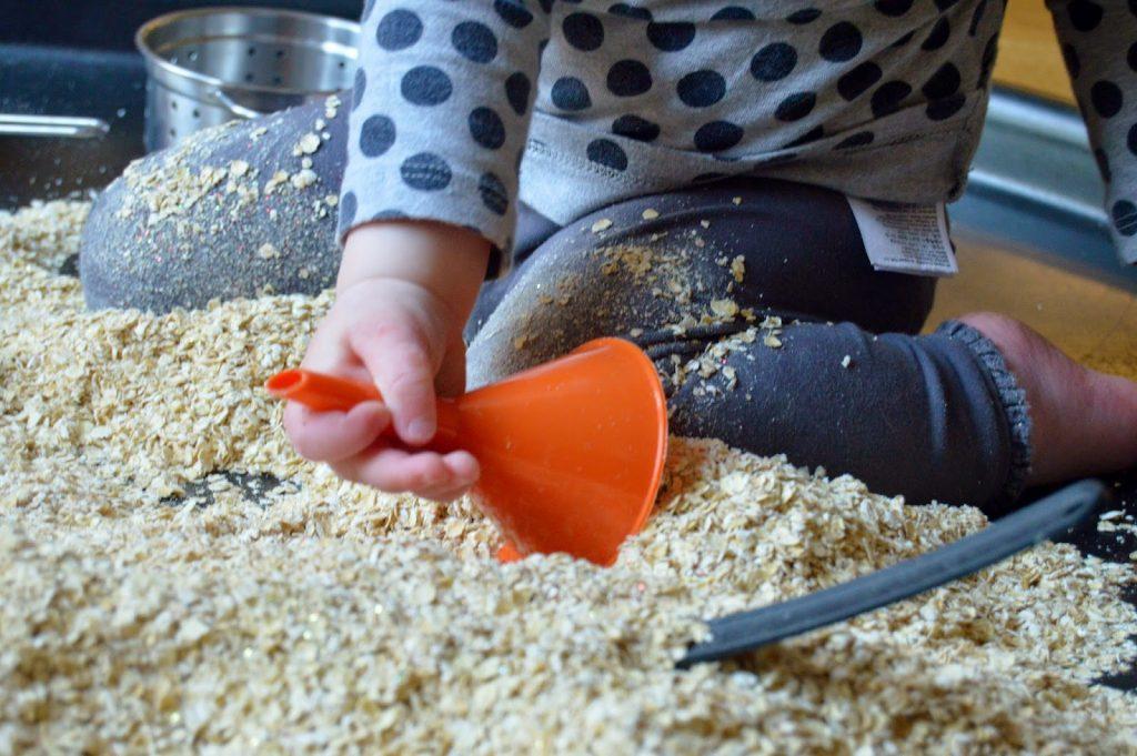 oats and glitter tuff spot