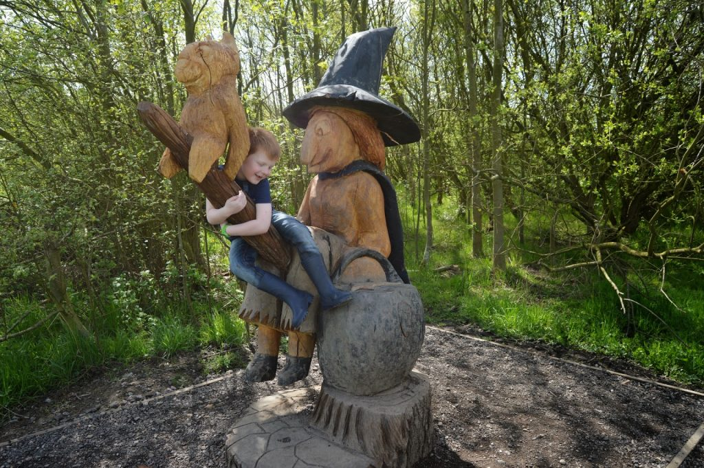 Room on the Broom Adventure Trail - witch statue