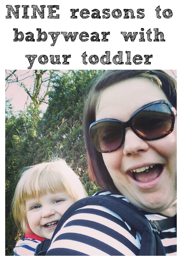 Just 9 of the reasons why I choose to babywear with my toddler as a mum of three