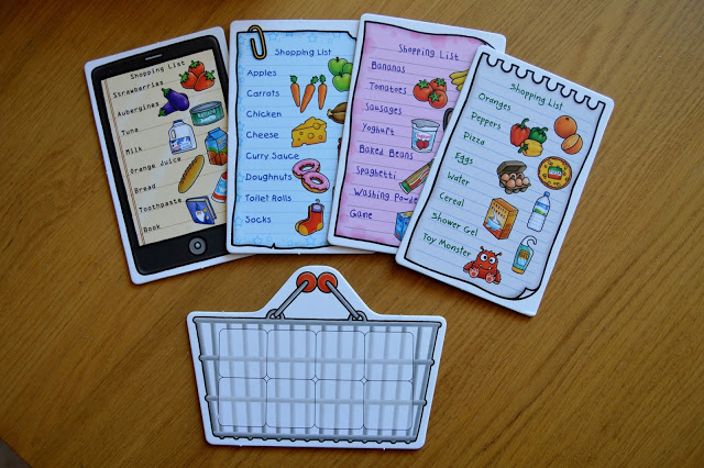 Orchard Toys Shopping List cards and basket