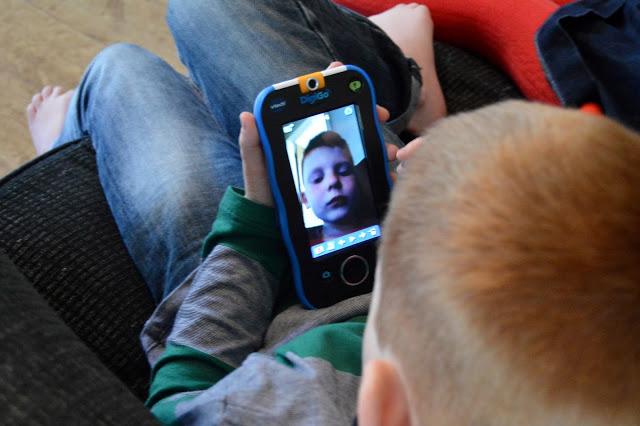 Taking selfies on the vtech Digigo