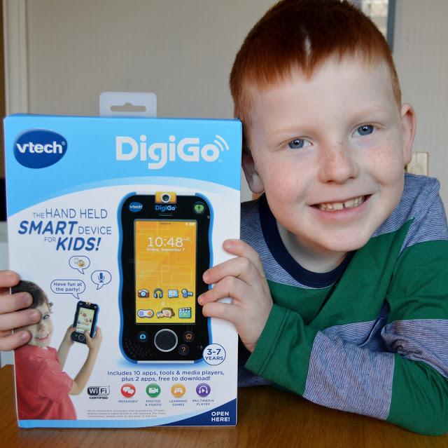 Ben with vtech DigiGo in box