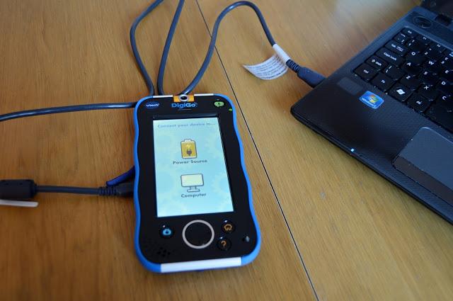 Charging the vtech DigiGo