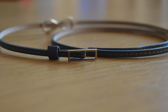 Merci Maman leather wrap bracelet with buckle