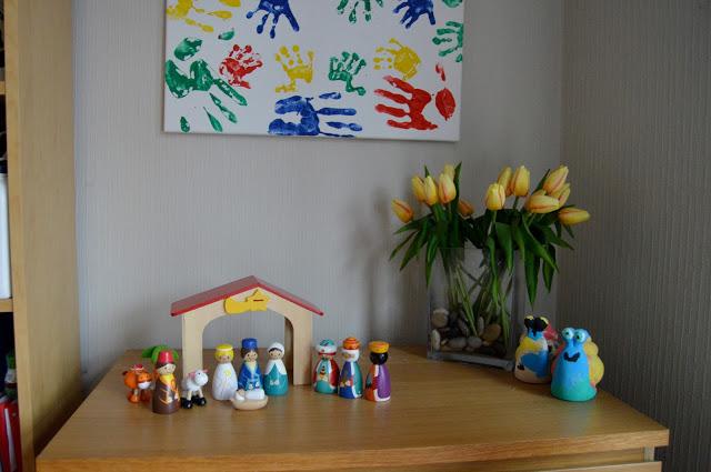 Asda wooden nativity set