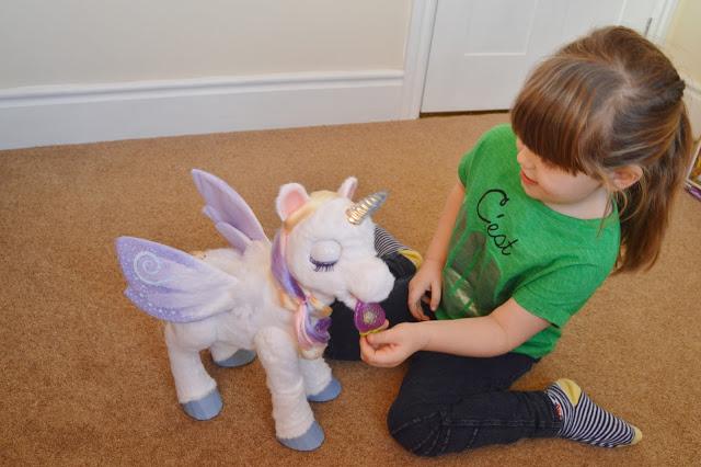 Feeding StarLily (My Magical Unicorn)