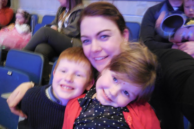 Family selfie at Disney on Ice
