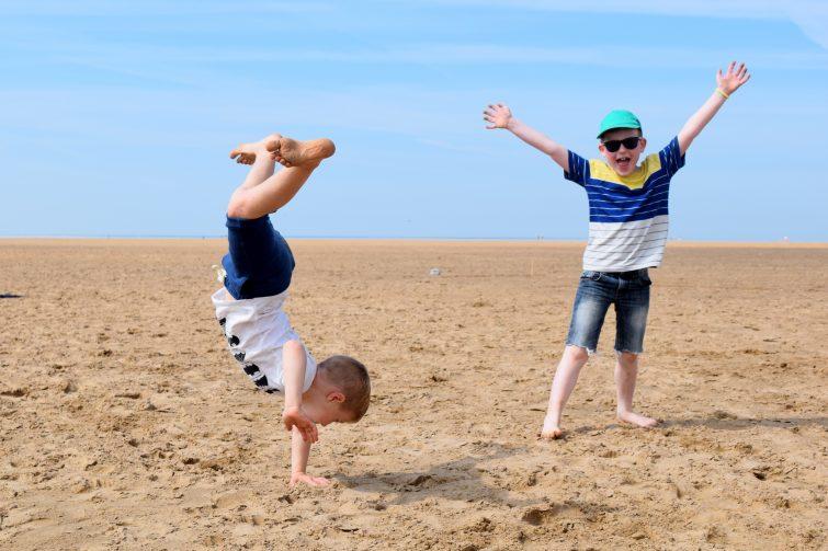 Cartwheels on beach