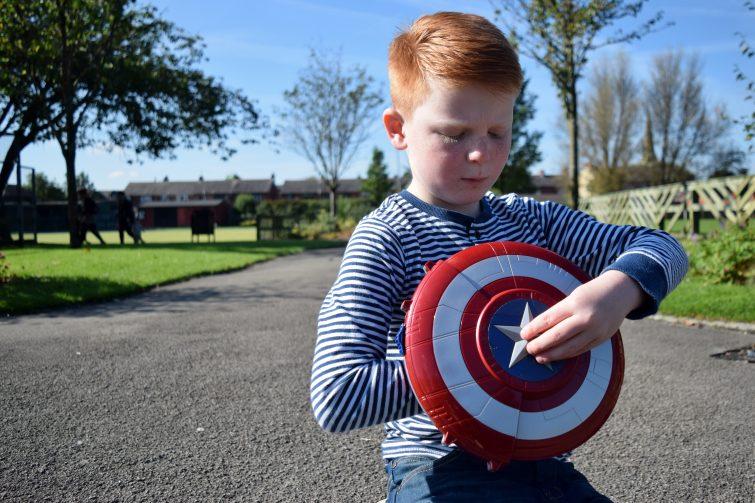 Captain America press button