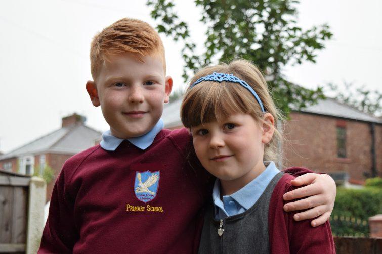 Kids ready for school.