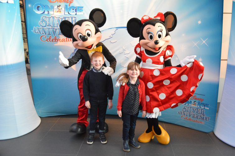 Ben & Chloe with Mickey & Minnie at Disney on Ice