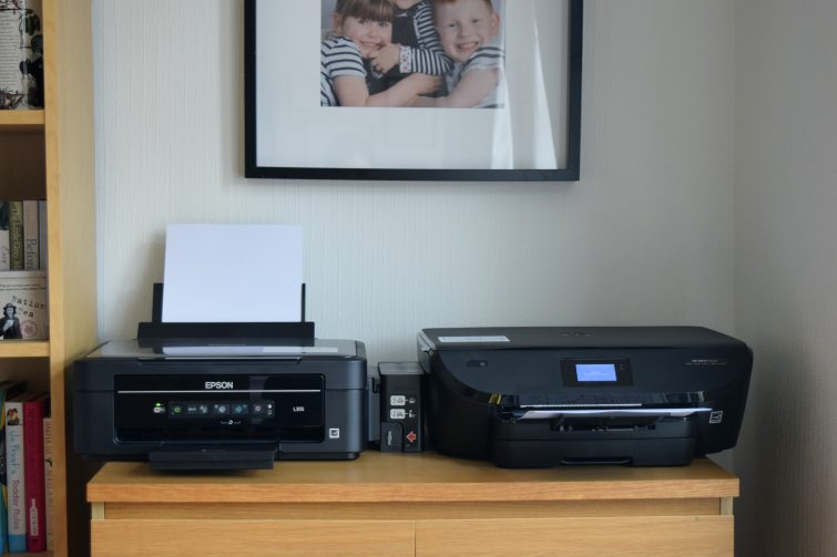 Side by side printer comparison