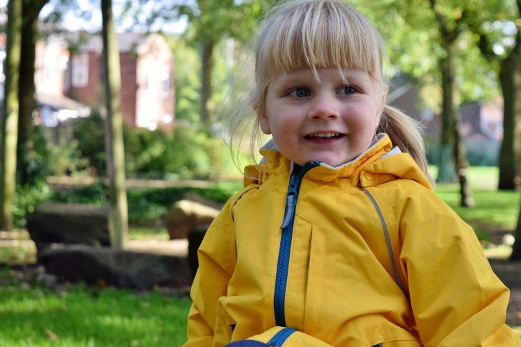Amy in yellow coat