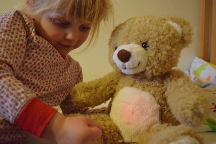 Sleep Tight All Night Teddy - red light means it's time to sleep