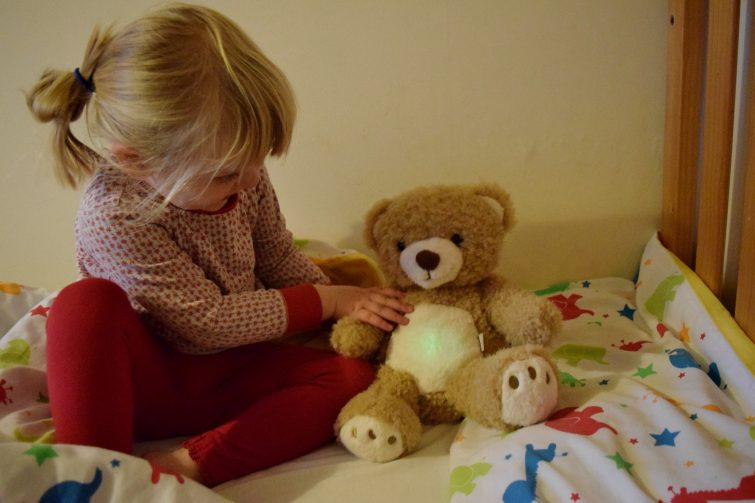 Sleep Tight All Night Teddy - green light means it's time to wake up