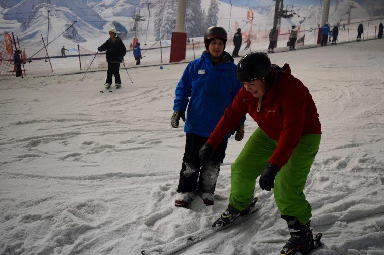 Mummy skis