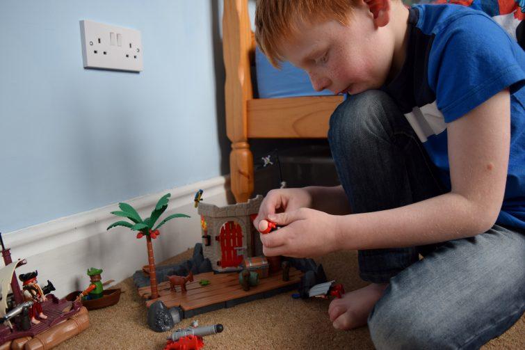 Ben with PLAYMOBIL Pirates