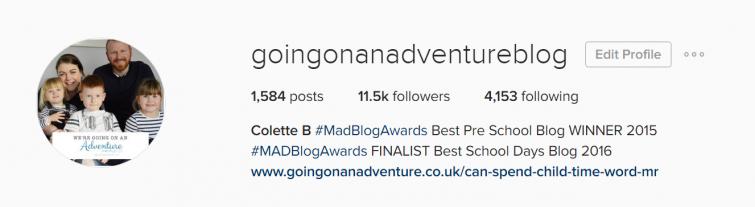 goingonanadventureblog instagram profile