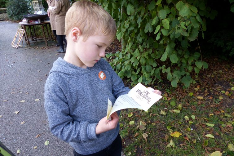 Finley reads his letter from the owls - The Enchantment of Chester Zoo