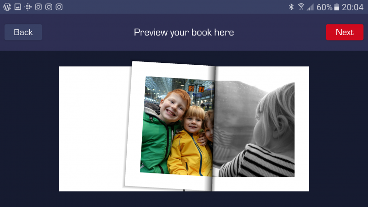 My SnappBook App - Book preview screenshot