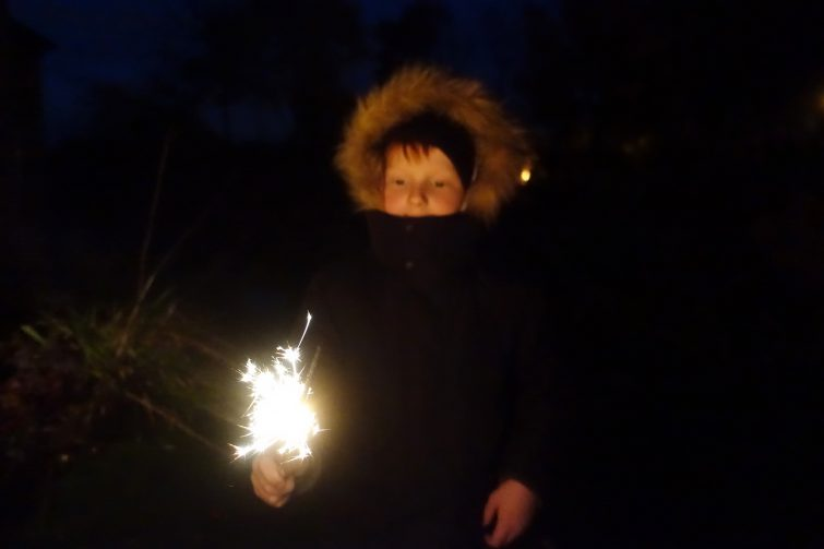 Ben with a sparkler