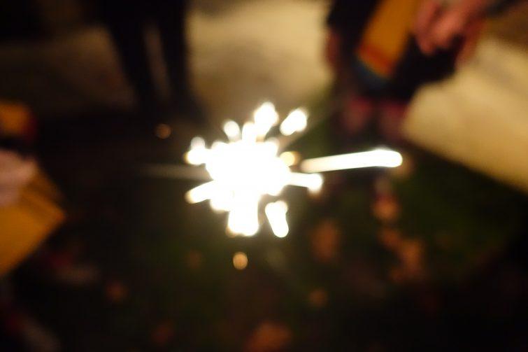 arty blurred sparkler shot / slow shutter speed