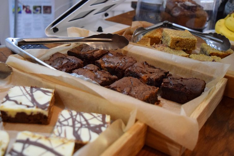 A selection of delicious cakes available at Aqua Nurture