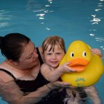 Mummy & Amy in the pool at Aqua Nurture