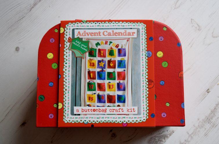 A Button Bag Craft Kit - Make your own advent calendar