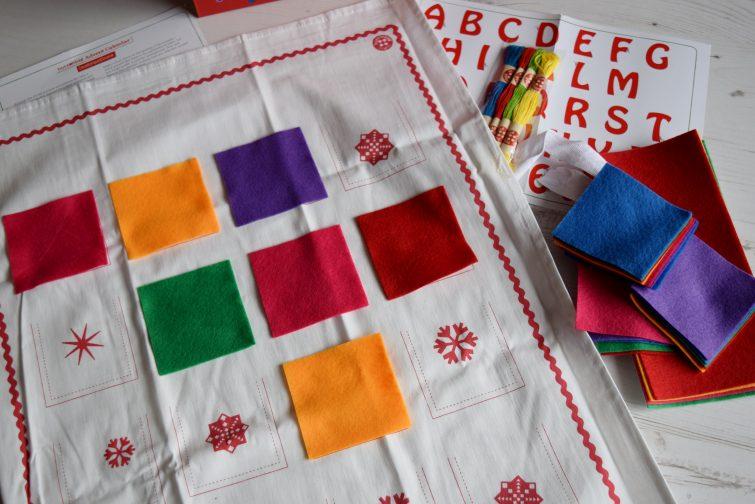 Buttonbag advent calendar kit felt pockets ready to stitch