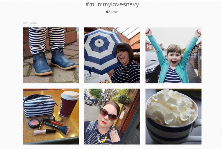 #MummyLovesNavy screenshot - Hashtags for Instagram