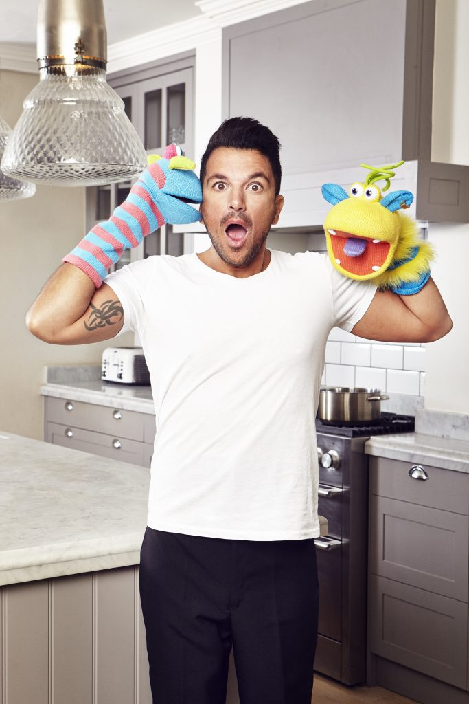 Peter Andre and puppets
