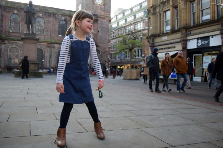 Blue Denim Pinafore Dress from Milk & Biscuits (5)