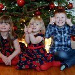 Kids and Christmas tree