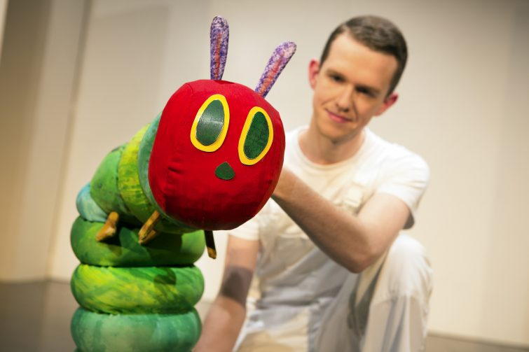 The Very Hungry Caterpillar puppet